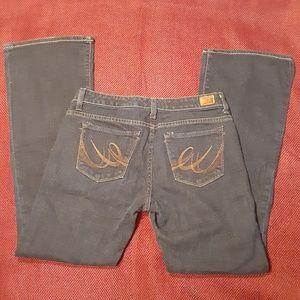 X2 Slim W10 low rise flare leg jeans sz 6 regular